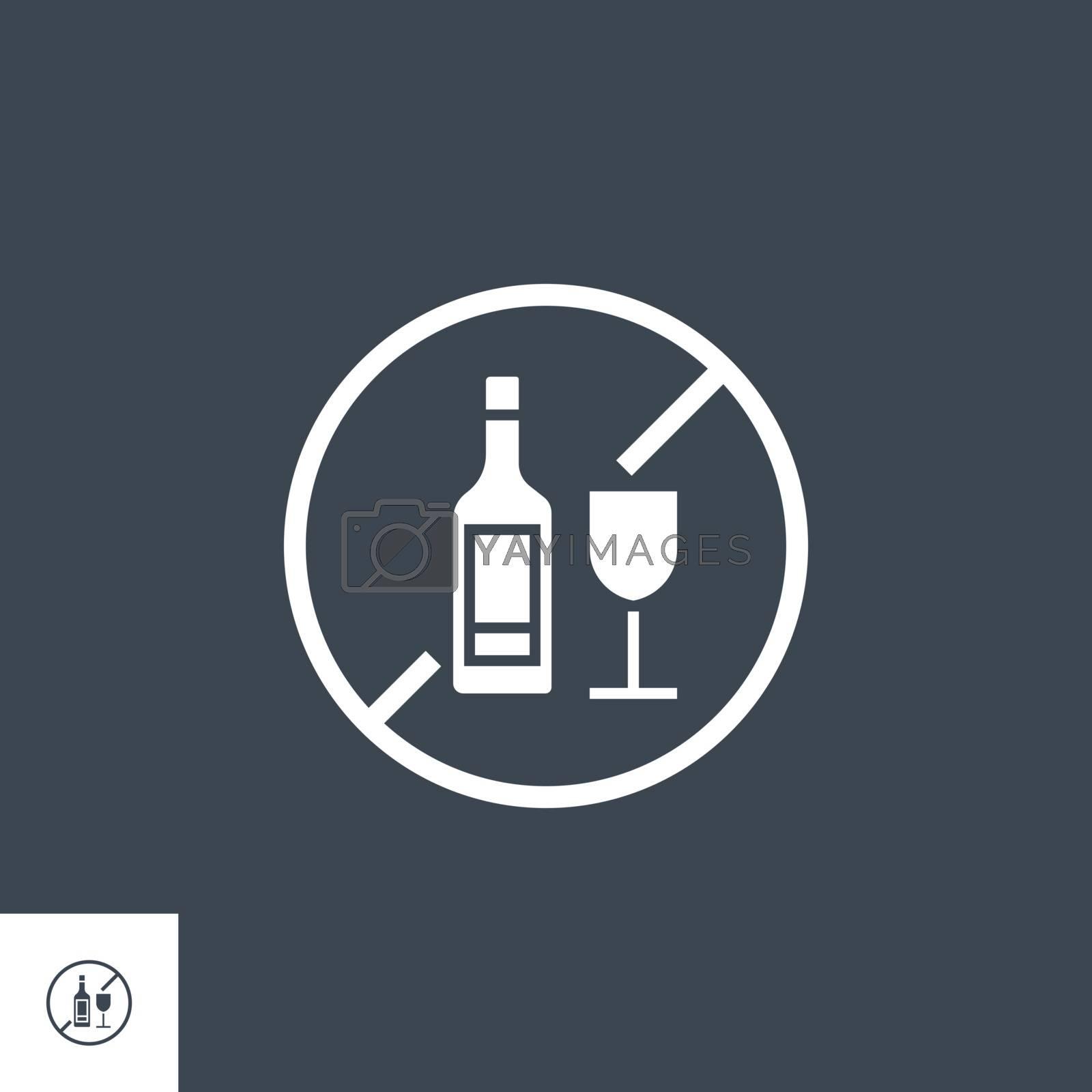 No Drinking Vector Icon by smoki