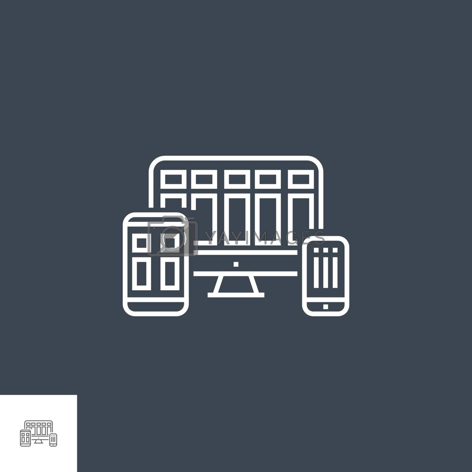 Responsive Web Design Line Icon by smoki