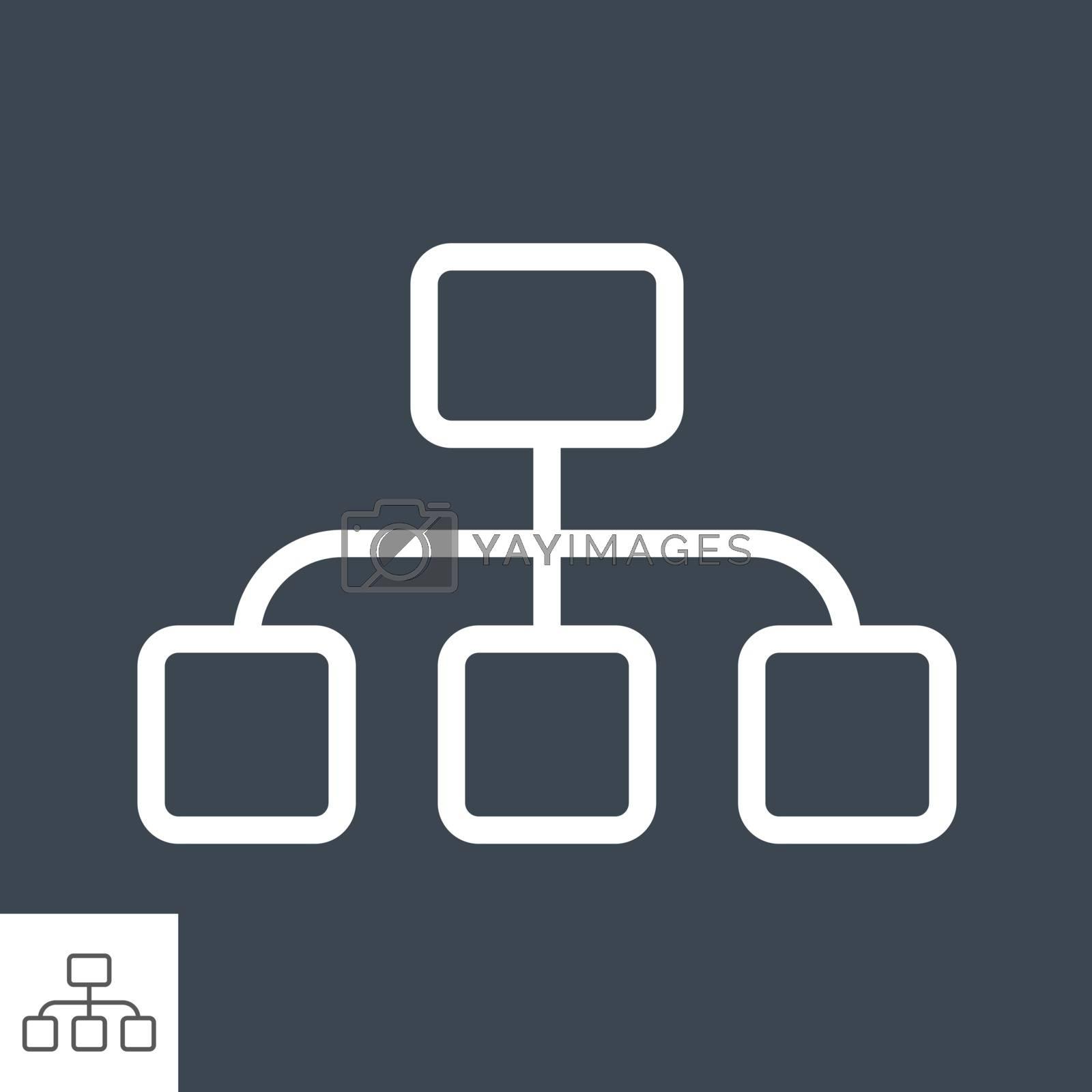Organization Thin Line Vector Icon by smoki