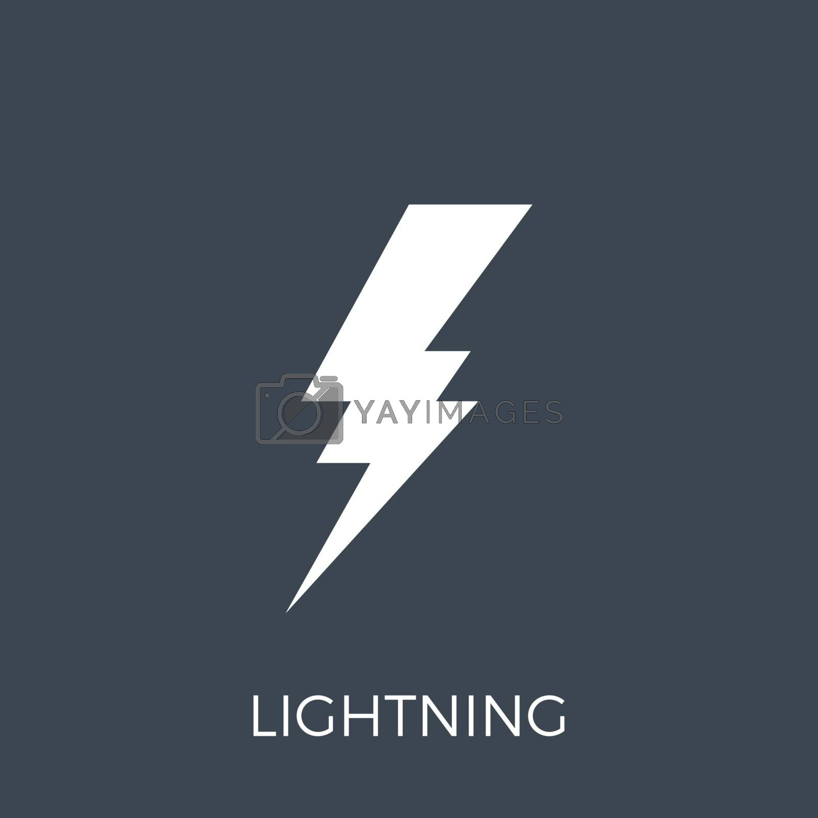 Lightning Vector Icon by smoki