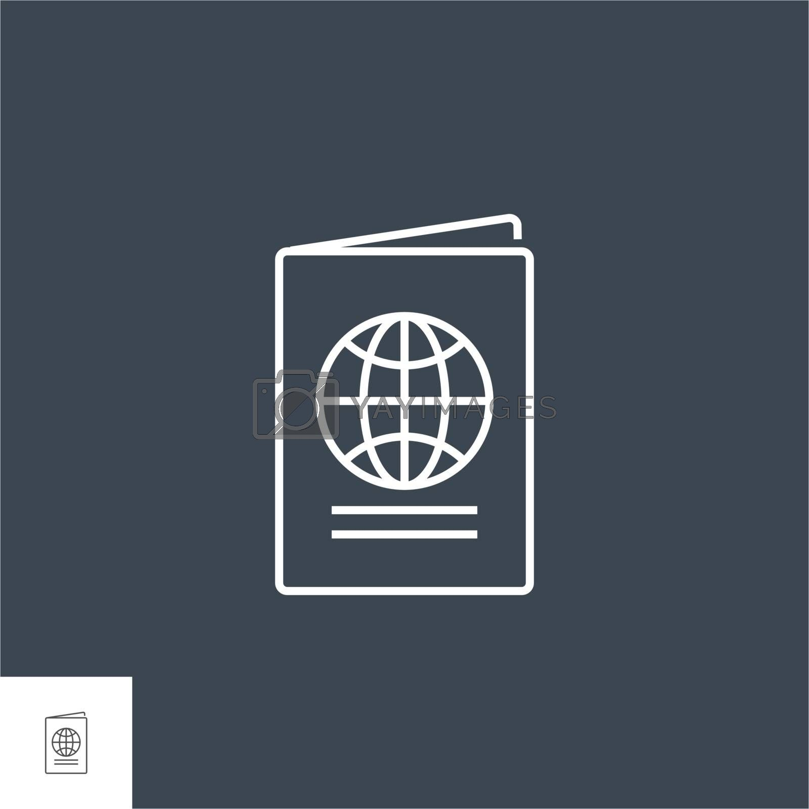 Passport Related Vector Line Icon. by smoki
