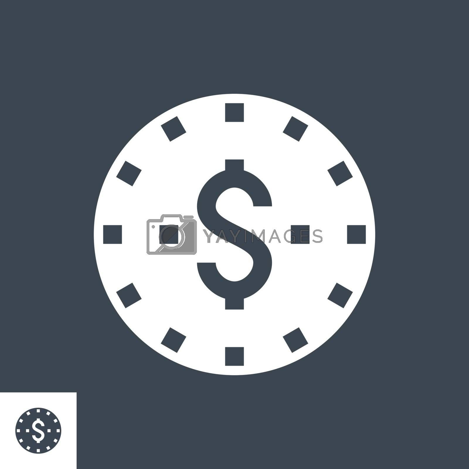 Coins Stack Vector Glyph Icon by smoki