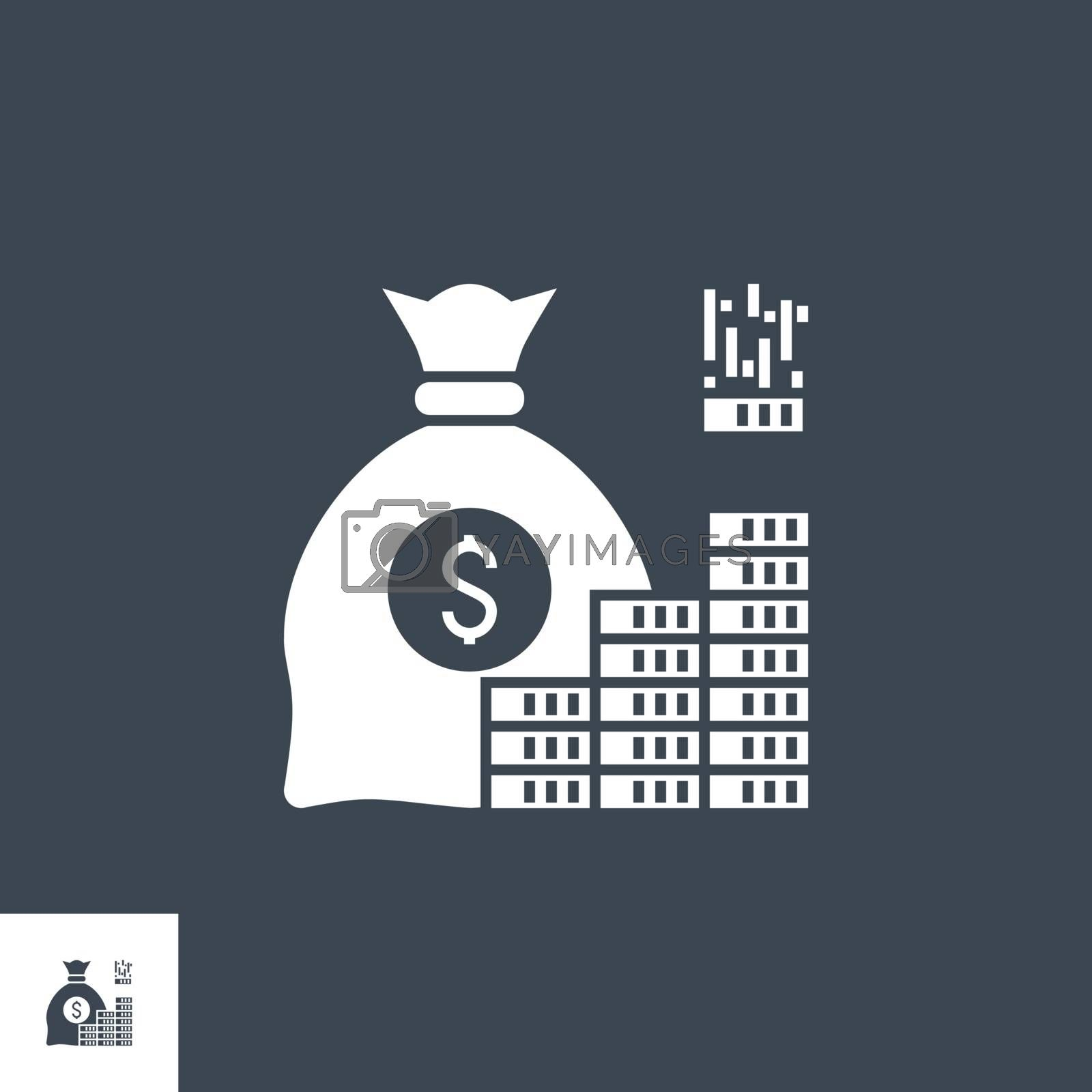 Investment related vector glyph icon. by smoki
