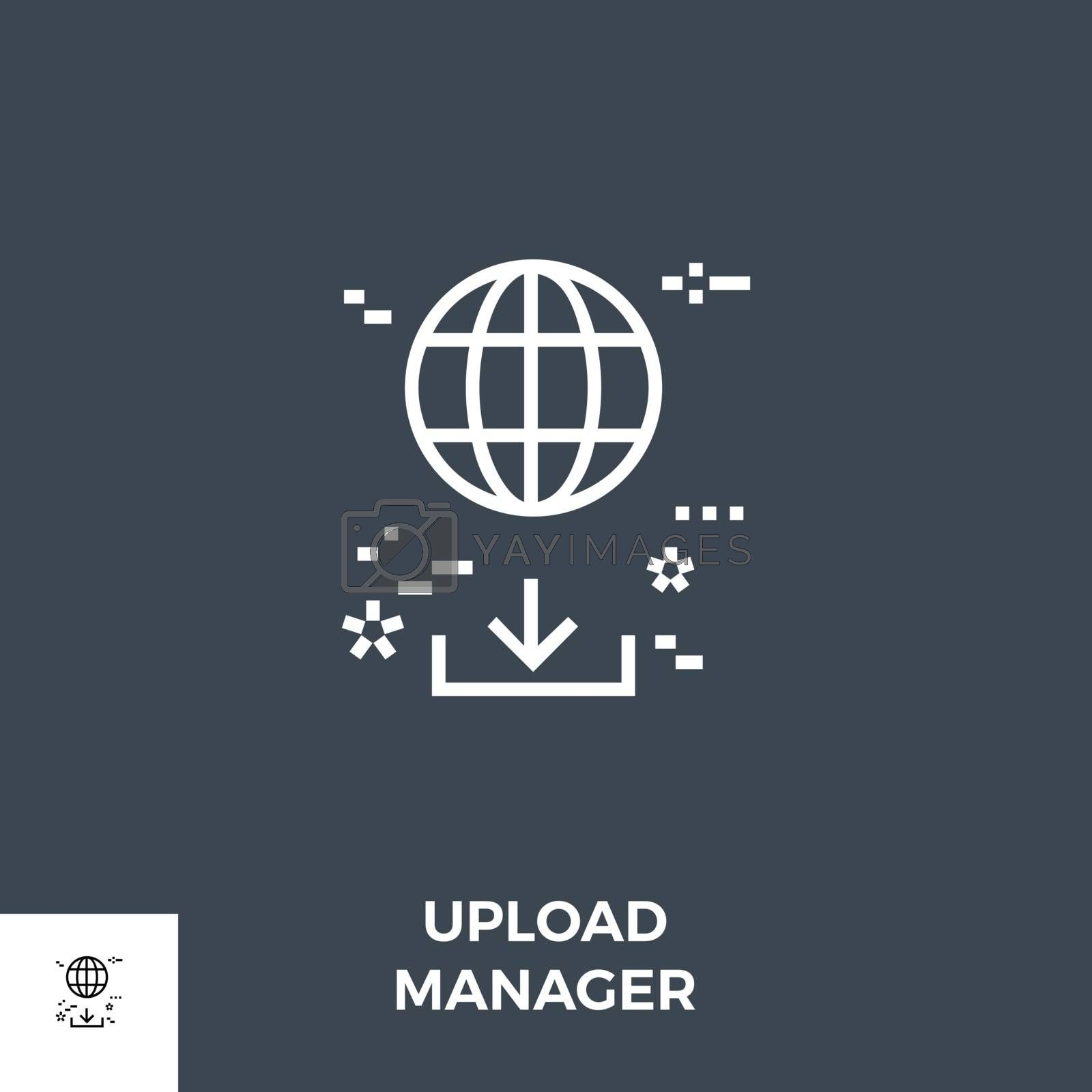 Upload Manager Line Icon by smoki