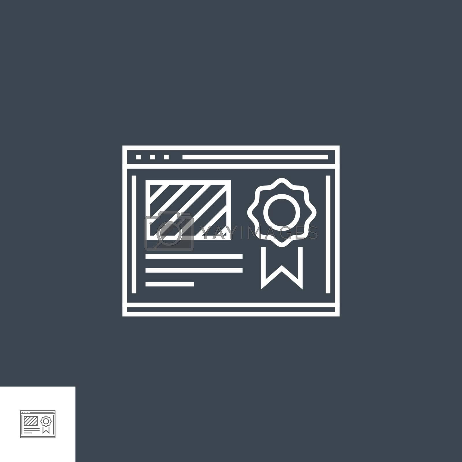 Website Ranking icon vector. by smoki