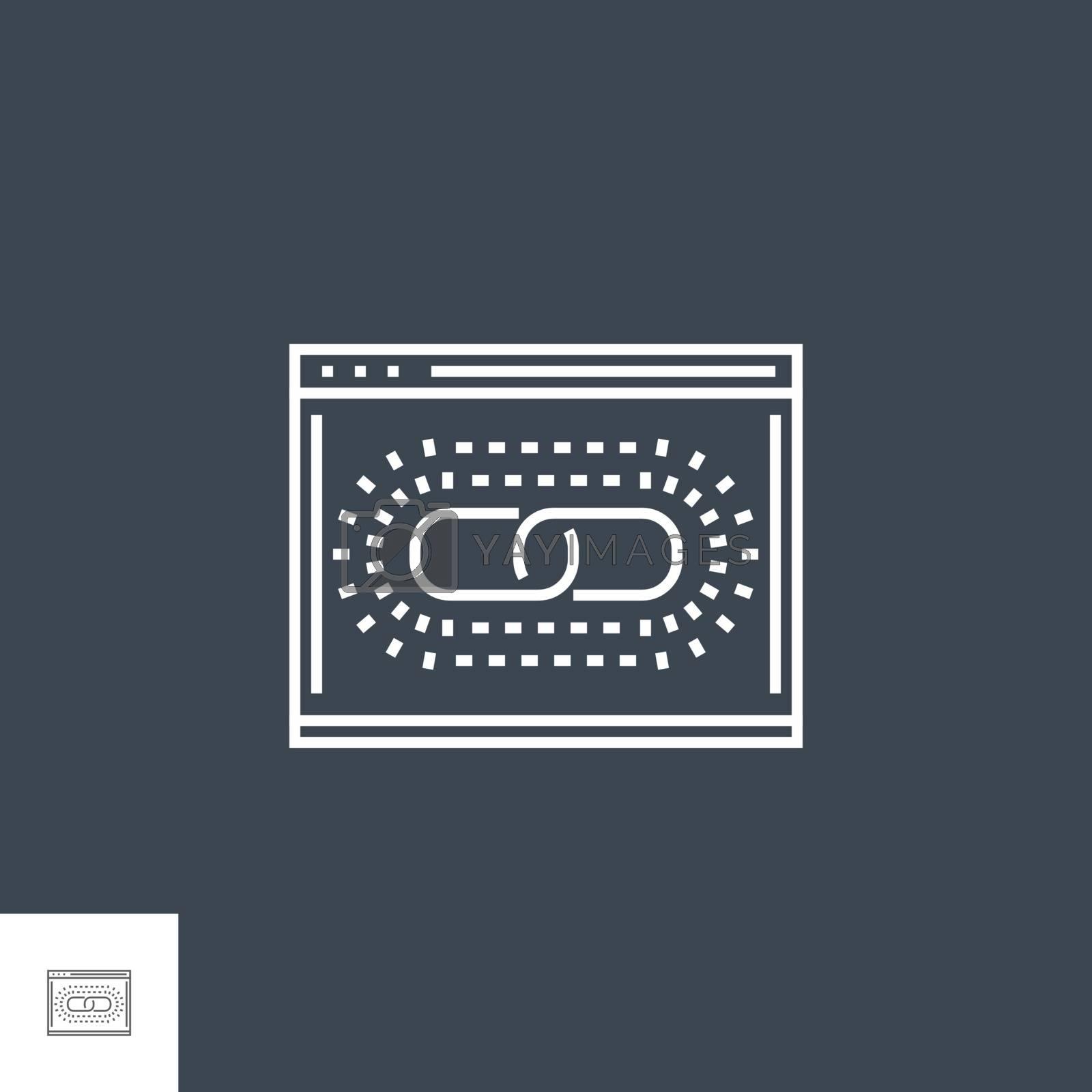 Web Link Optimization Line Icon by smoki