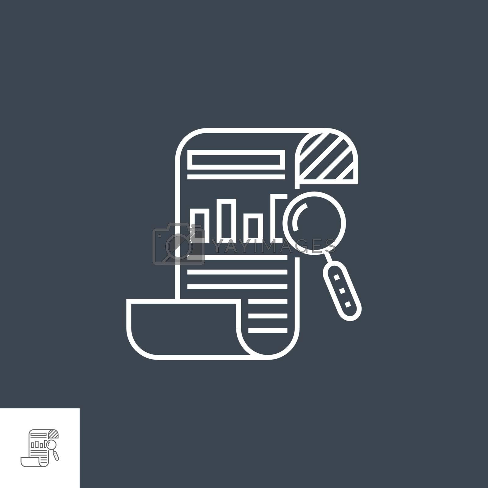 SEO Report Line Icon by smoki