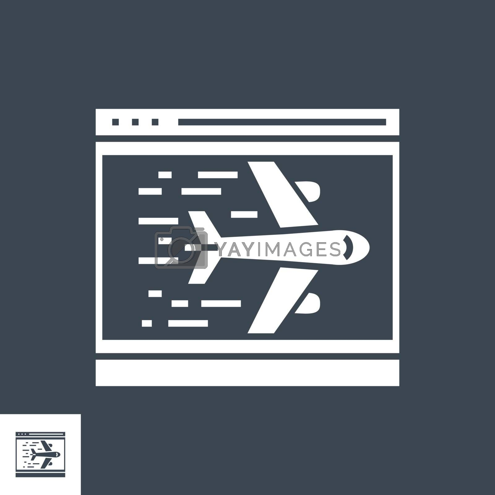 Landing Page Related Vector Glyph Icon. Isolated on Black Background. Vector Illustration.