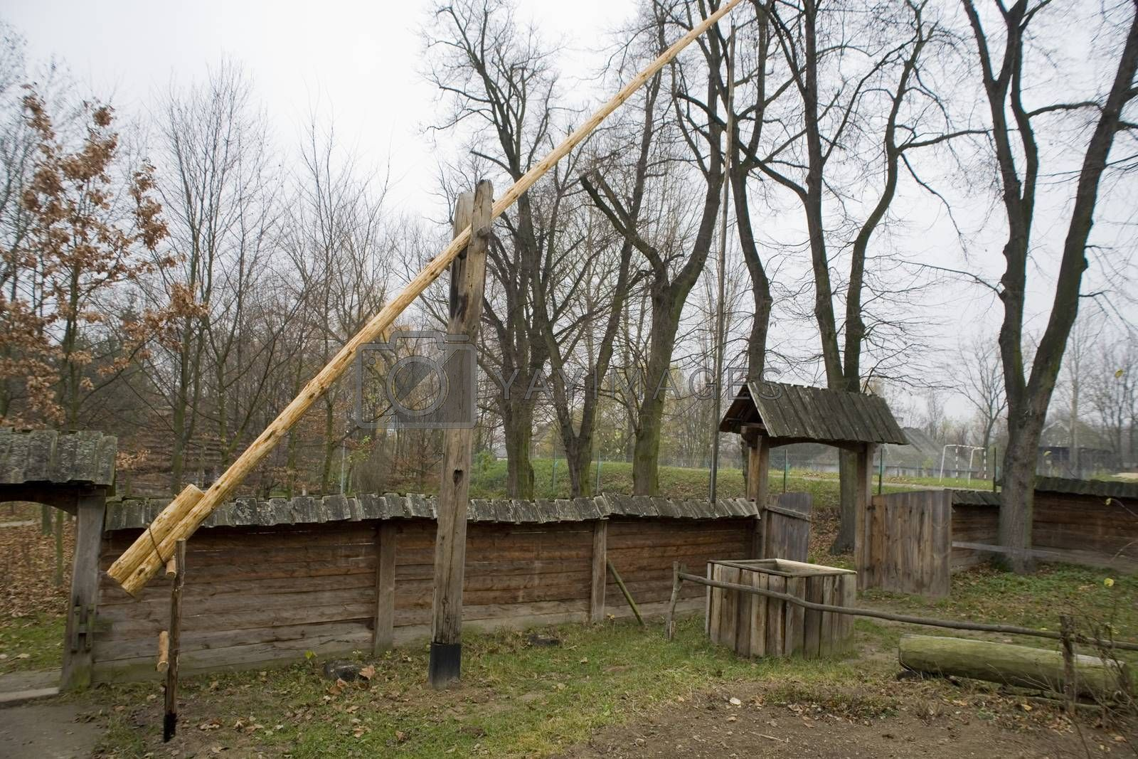 Royalty free image of  wooden well in an old village in Poland in Podlasie at the Muse by Lukrecja