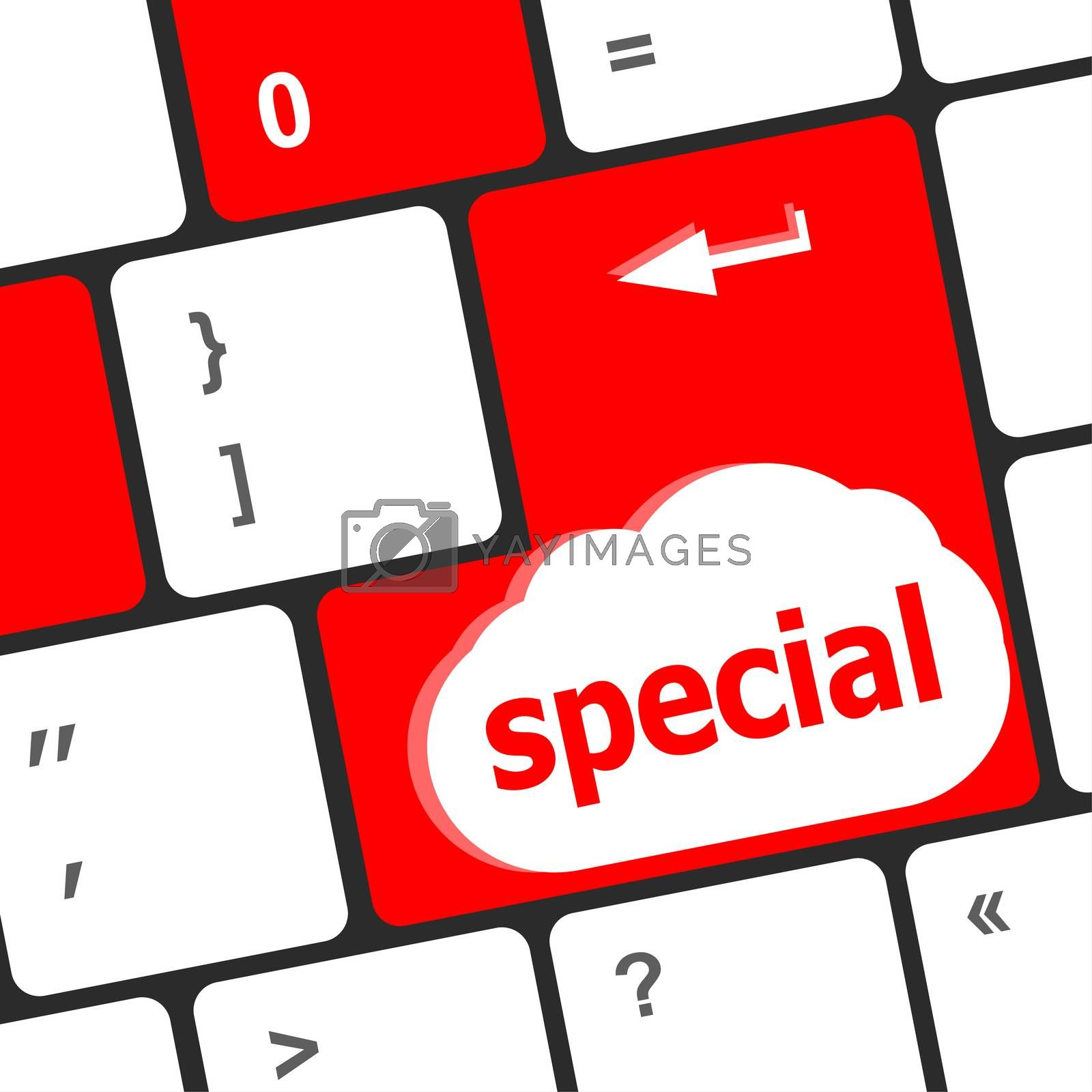 special button on laptop or computer keyboard keys