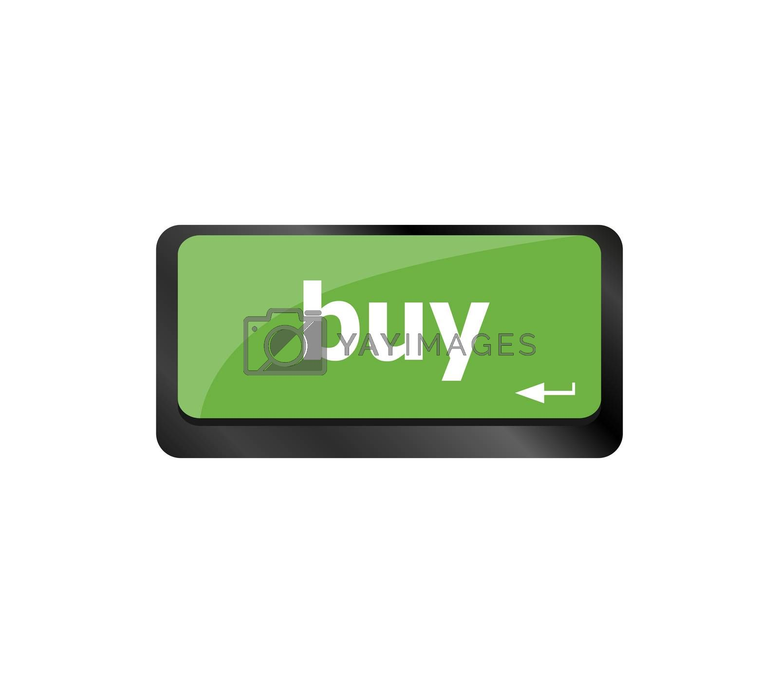 computer keyboard buy now icon - business concept