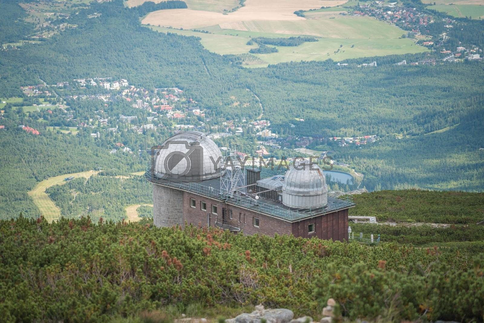 Royalty free image of View of the observatory on Skalnate Pleso lake in late summer, High Tatras, Slovakia by petrsvoboda91