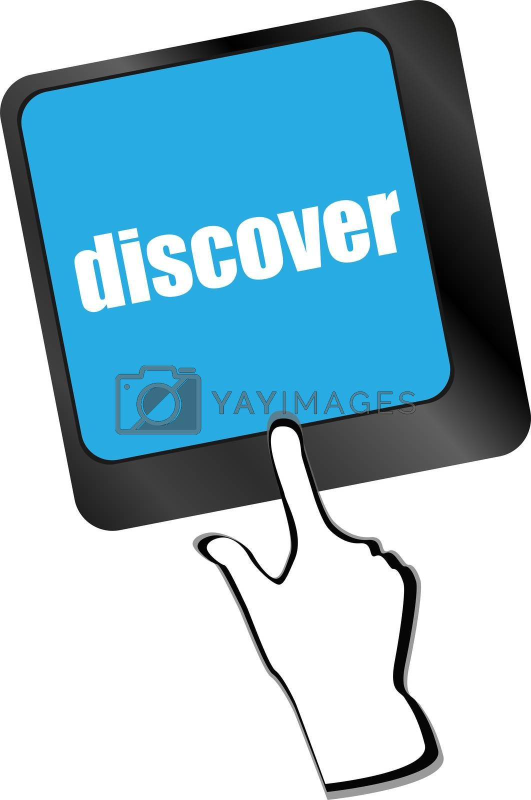 word discover on computer keyboard key