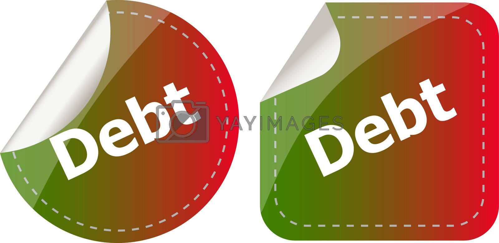 derb word on stickers button set, business label