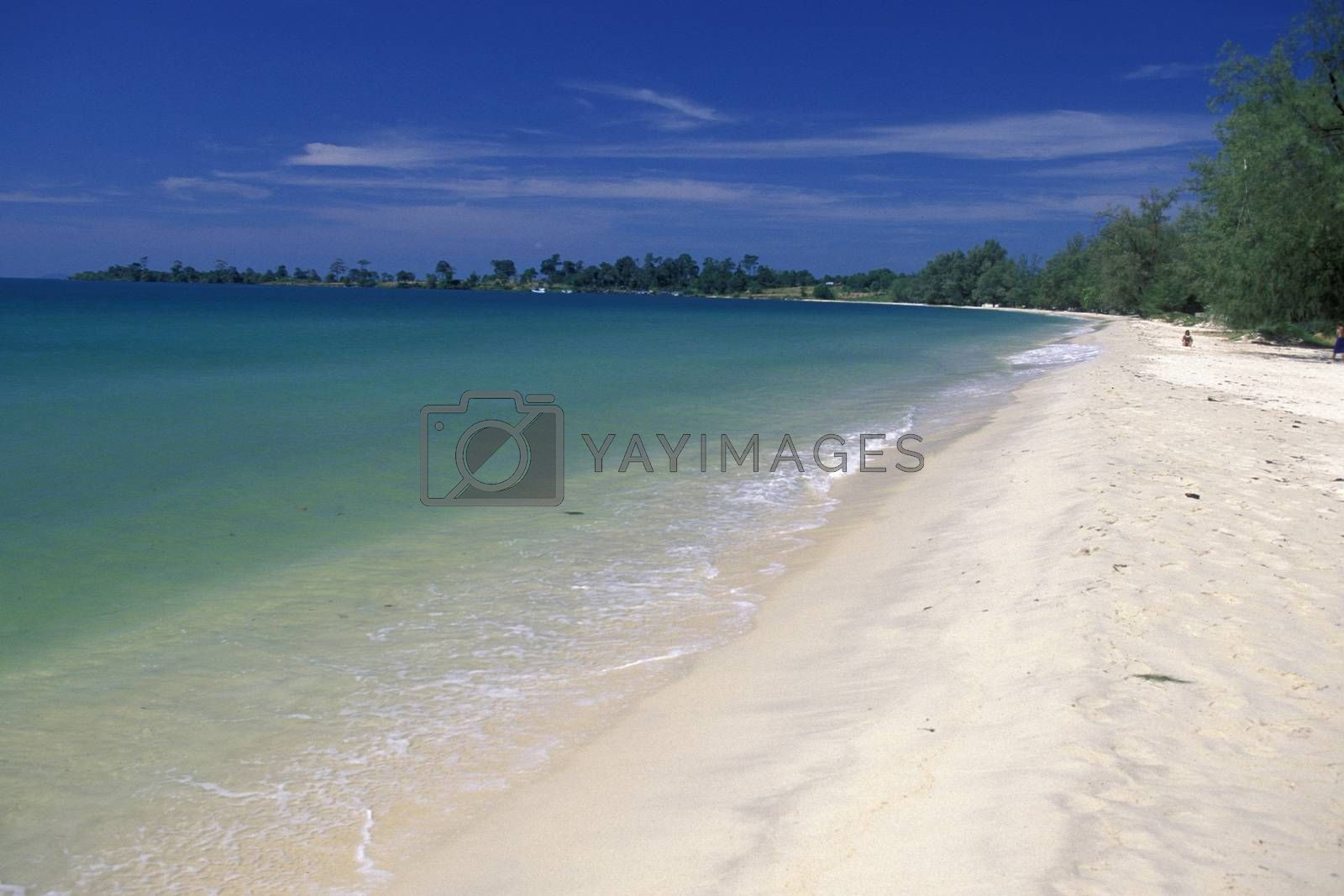a Beach at the Golf of Thailand in the Town of Sihanoukville in the south of Cambodia.  Cambodia, Sihanoukville, February, 2001,