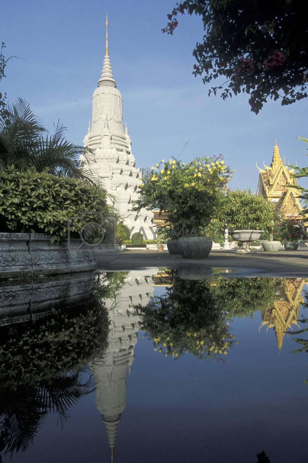 the Wat Phnom Park in the city of Phnom Penh of Cambodia.  Cambodia, Phnom Penh, February, 2001,