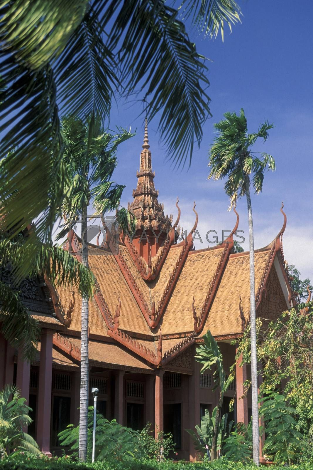 the Cambodian National Museum in the city of Phnom Penh of Cambodia.  Cambodia, Phnom Penh, February, 2001,