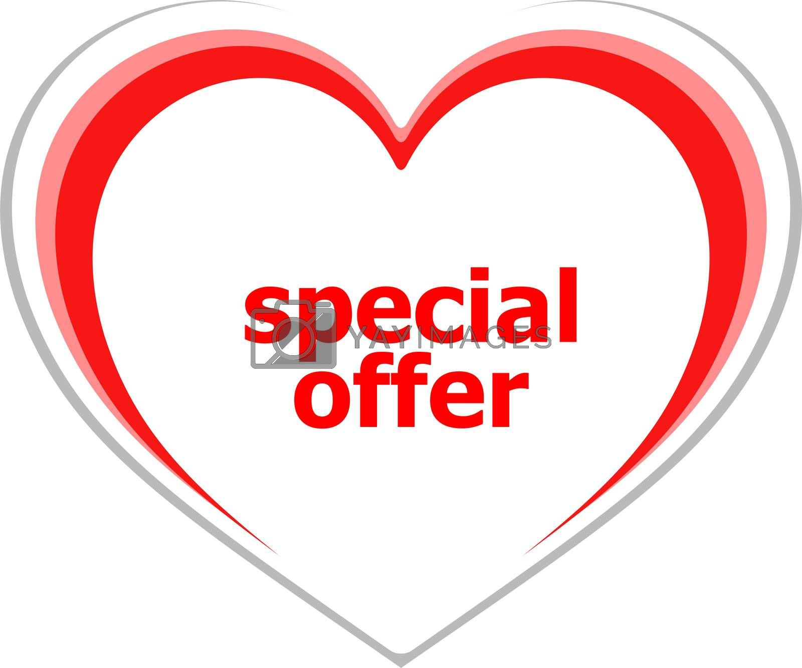 Text Special offer. Business concept