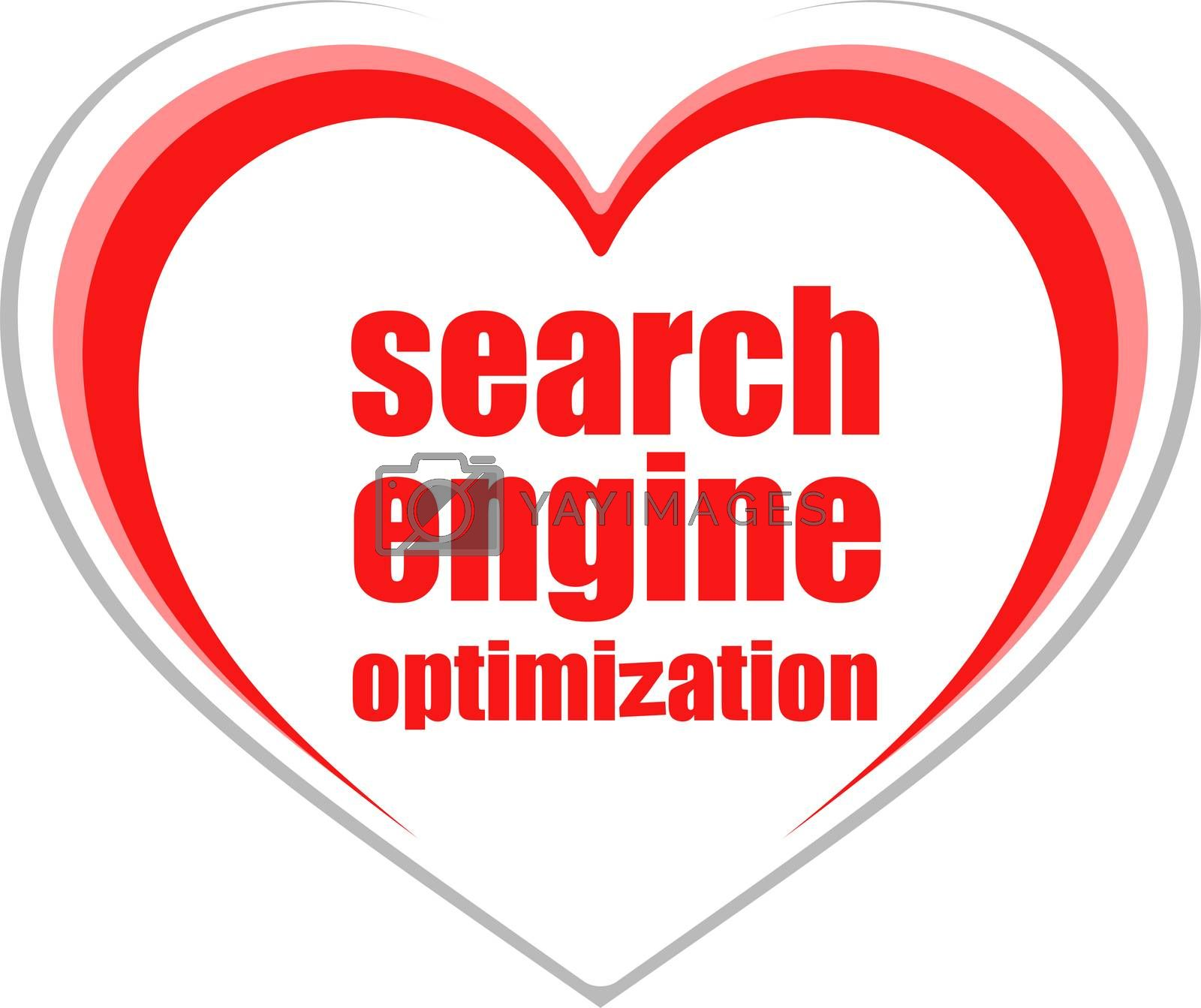 Search Engine Optimization Text. Information concept