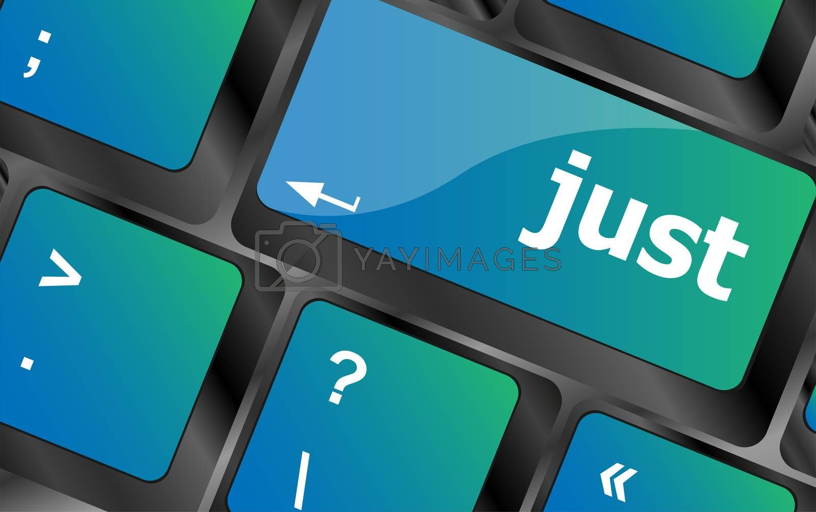 just word on computer keyboard pc key