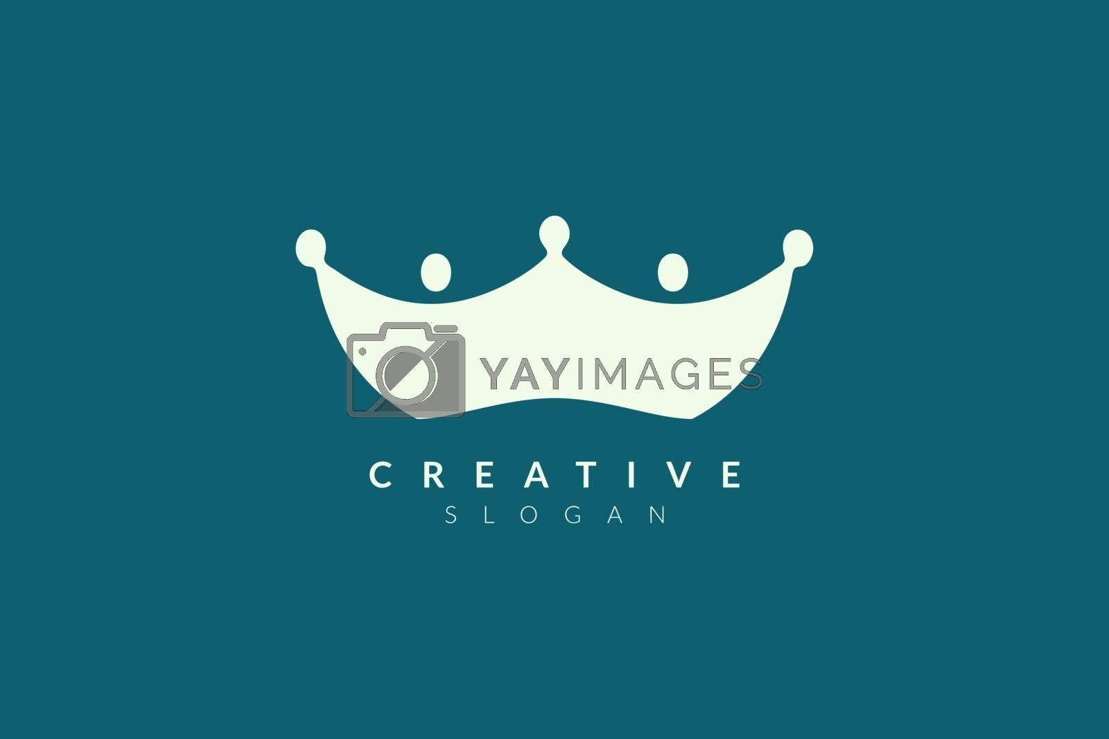 Crown logo design. Minimalist and modern vector illustration design suitable for business or brand.