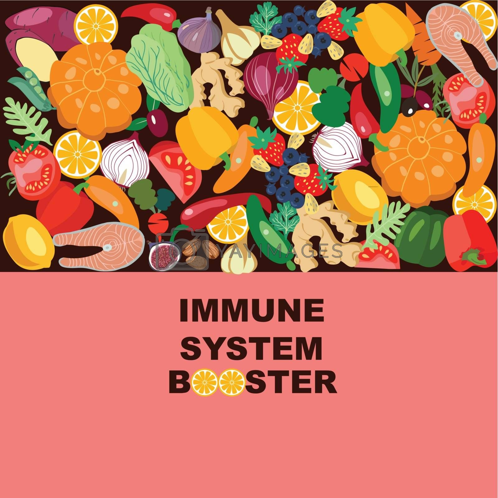 Boost Immunity with medicine concept illustration. by Margolana