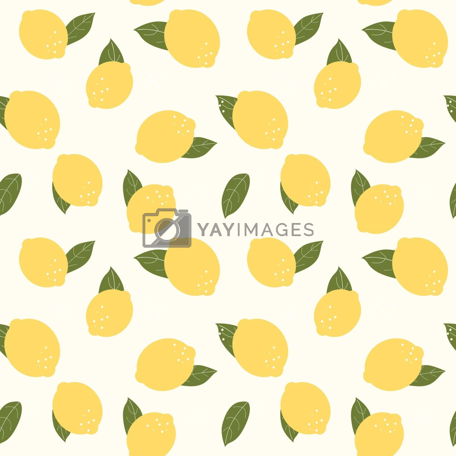 Abstract Lemon Seamless Pattern Background Vector Illustration EPS10