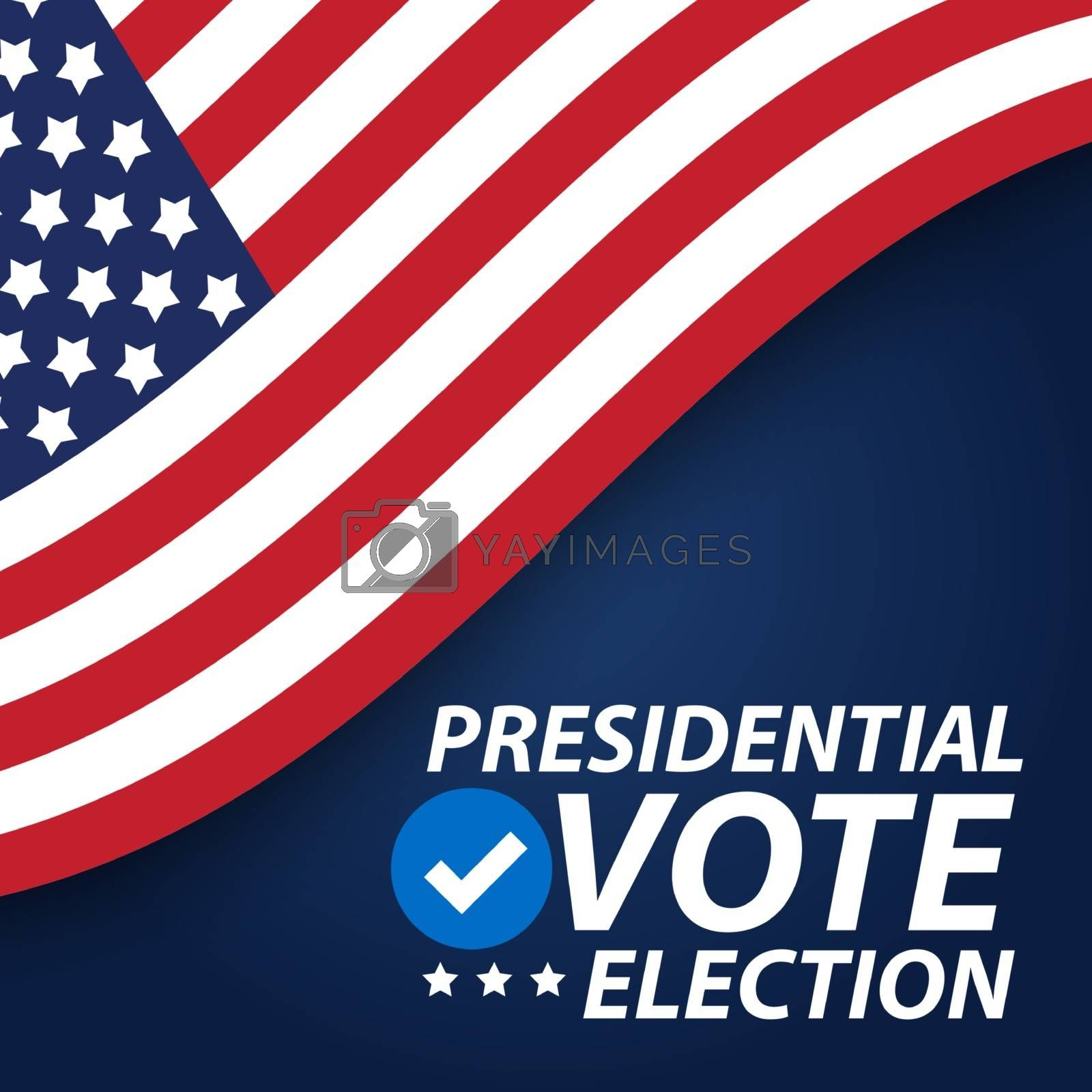 United States of America Presidential Election Background. Vector Illustration EPS10
