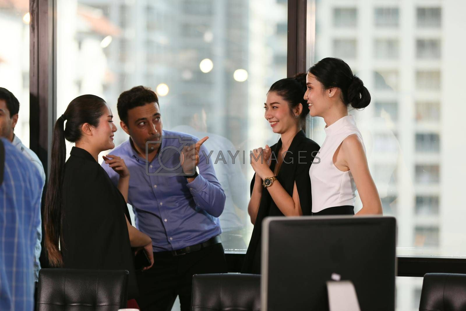 group of business people discussing and meeting in office,  achievement concept.