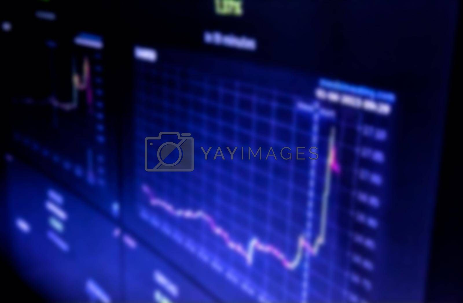 Creative forex chart on monitor. Finance and invest concept. Double exposure. Growing Money - Plant On Coins - Finance And Investment Concept