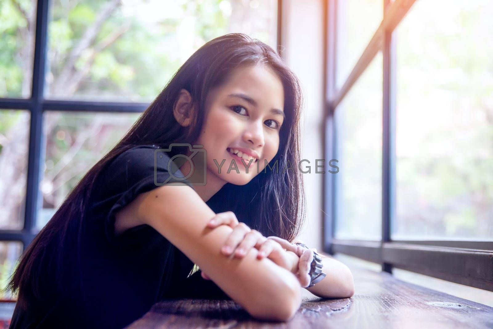 portrait of young charming beautiful girl with smile, authentic moments of real emotion.