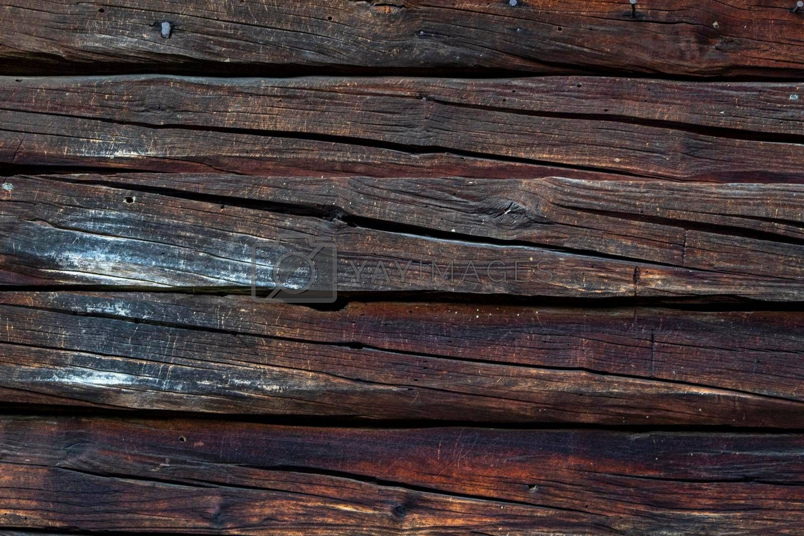 A dark wooden texture on a house