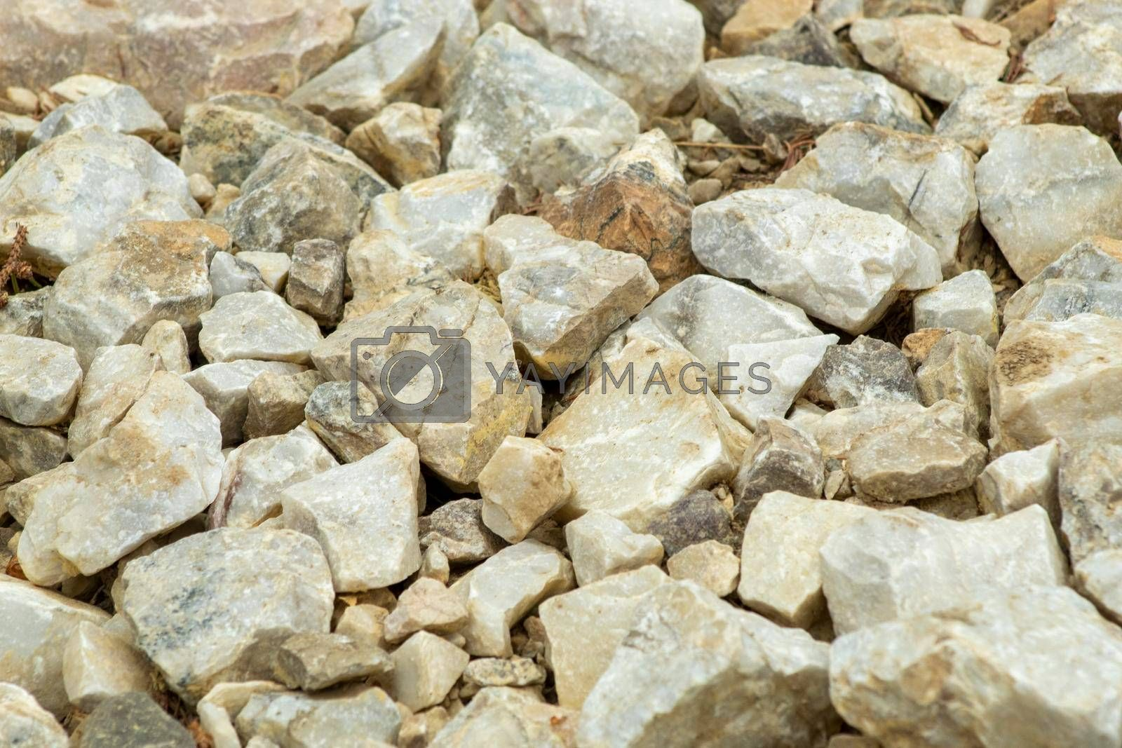 Big and small rocks background