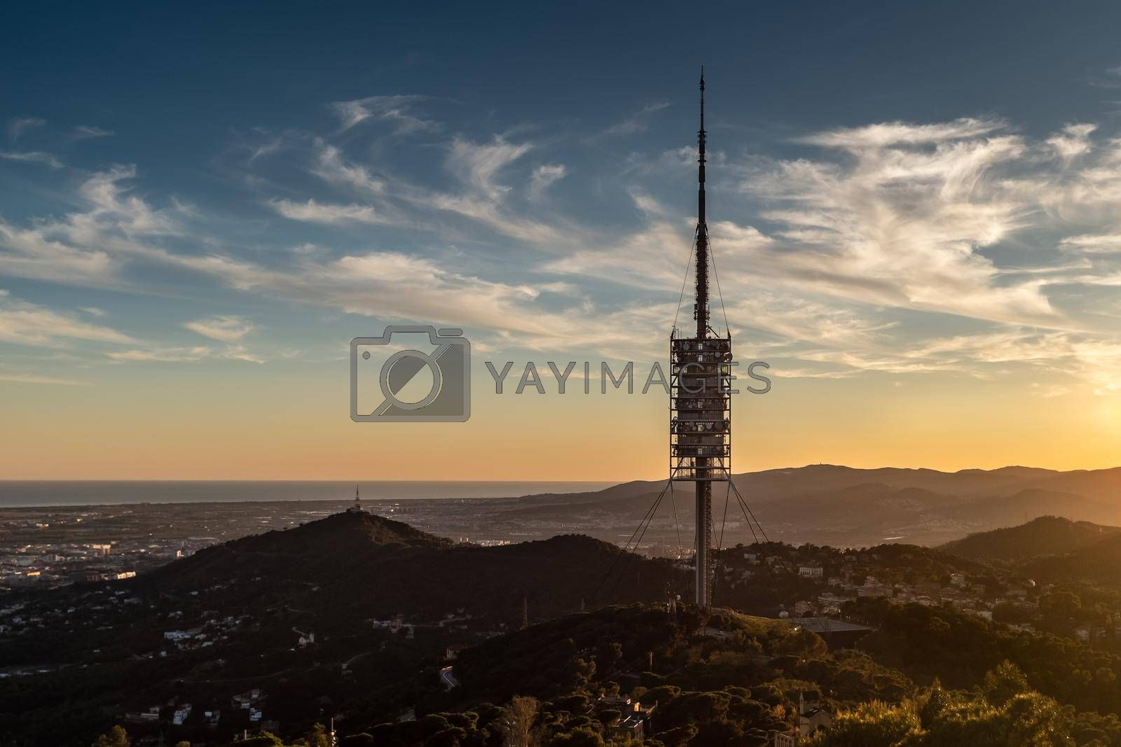 Torre de Collserola (Collserola Tower), designed in 1992 by the English architect Norman Foster. Inaugurated on the occasion of the Olympic Games in Barcelona '92, is the main telecommunications tower in Catalonia, Spain.