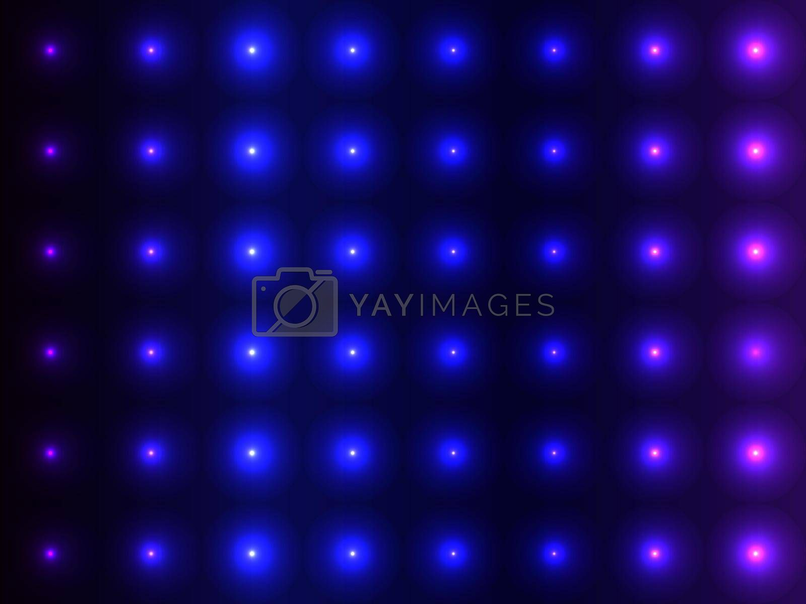 Blue gradients convex balls, sparkling pattern design