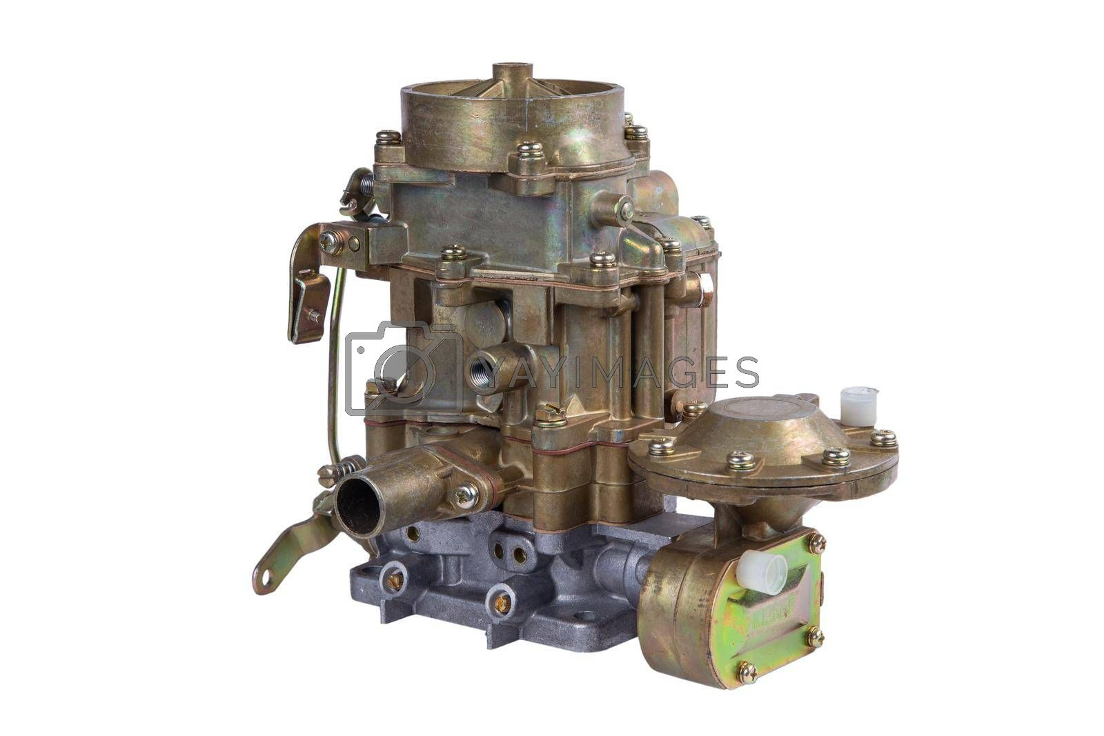 Royalty free image of new carburetor of the internal combustion engine of the car isolated on white background by forester