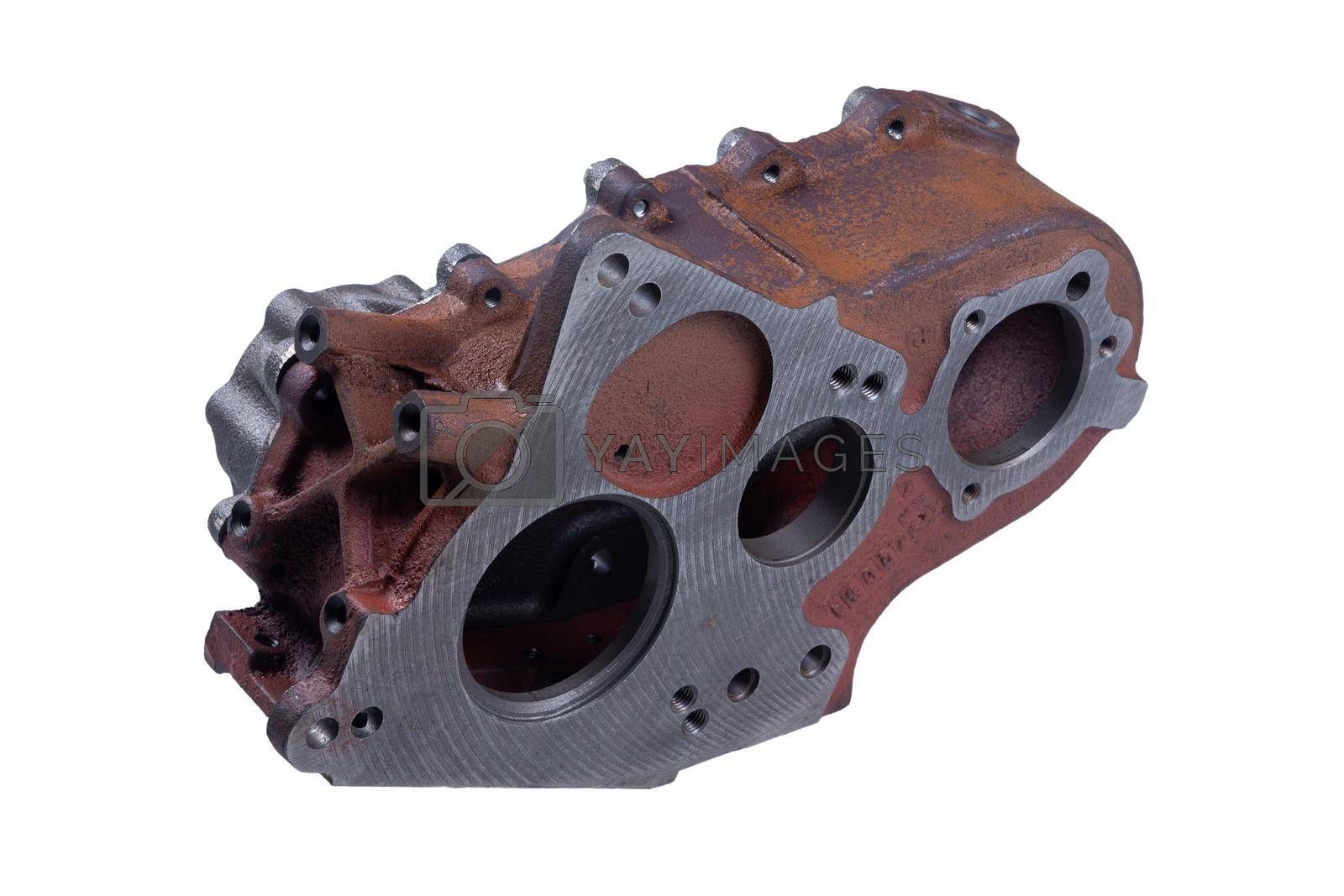 new transfer case for car, isolated on white background