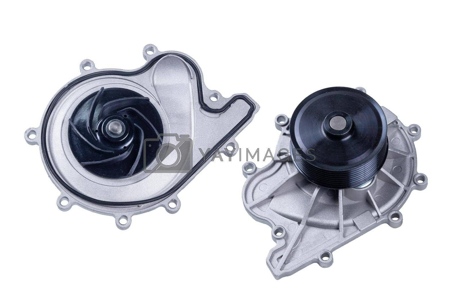 water pump, engine cooling system,isolated on white background