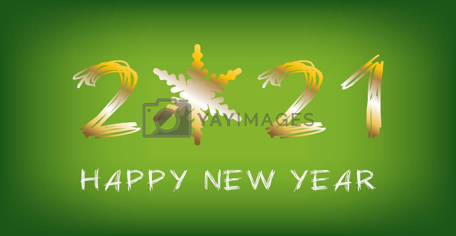 2021 Happy new year!  Holiday greeting card. Holiday design for greeting card, invitation, calendar, etc. illustration - Vector.