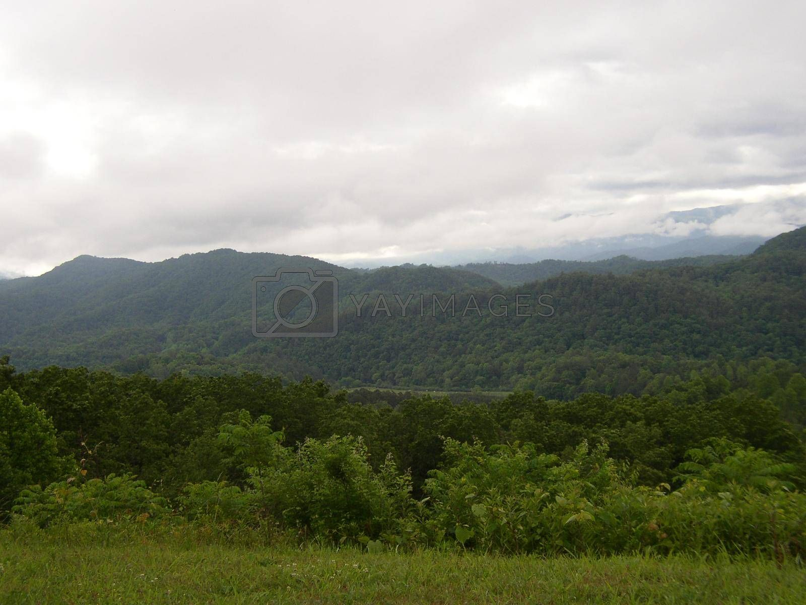 The Smoky Mountains seen from the Foothills Parkway