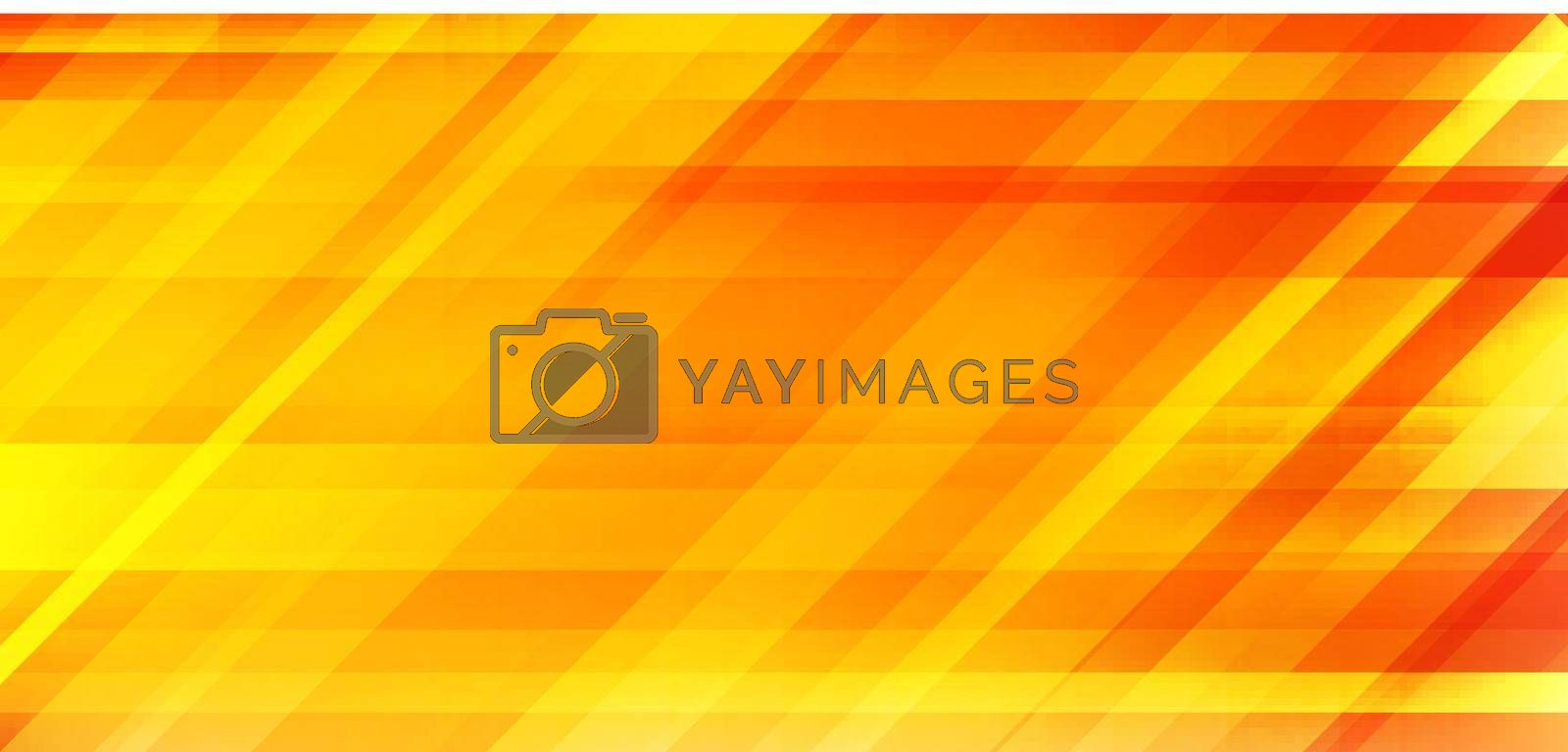 Abstract yellow and orange gradient color blurred speed motion background. Stripes horizontal movement wallpaper. Vector illustration