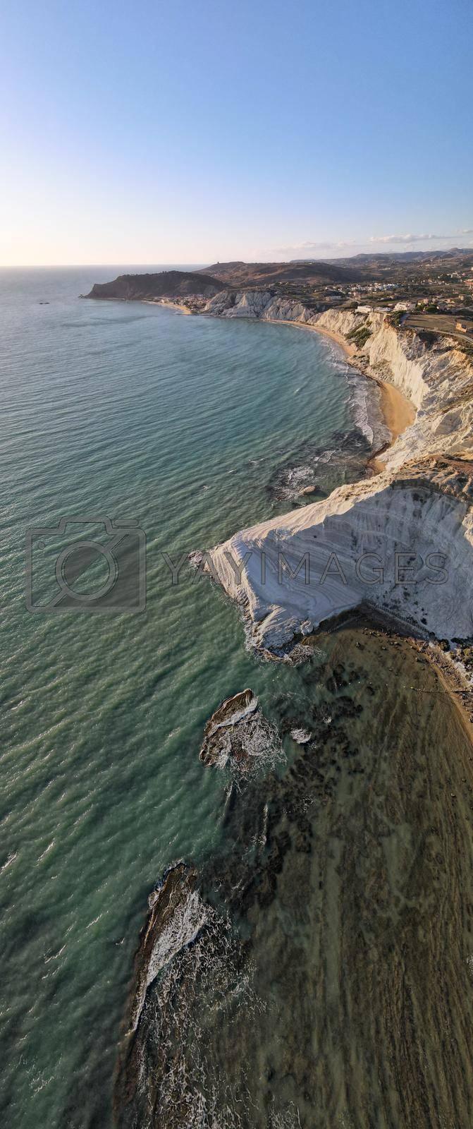 Sicilia Scala dei Turchi Stair of the Turks white coastline, Sicily Italy