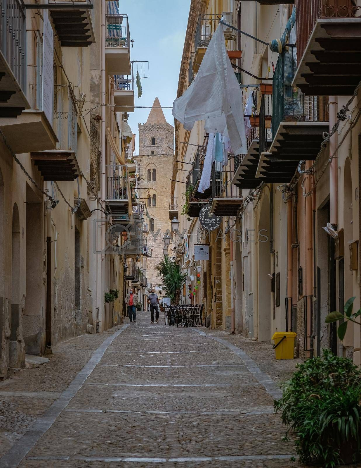 Royalty free image of Cefalu, medieval village of Sicily island, Province of Palermo, Italy by fokkebok