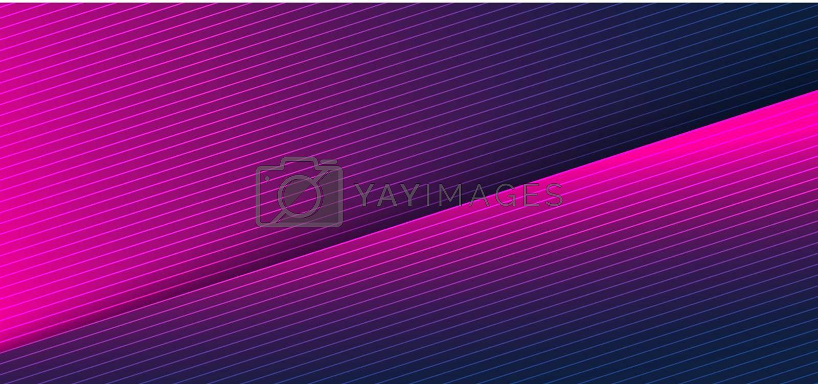 Abstract creative modern background blue and pink gradient color geometric triangle paper cut layer with shadow. Vector illustration
