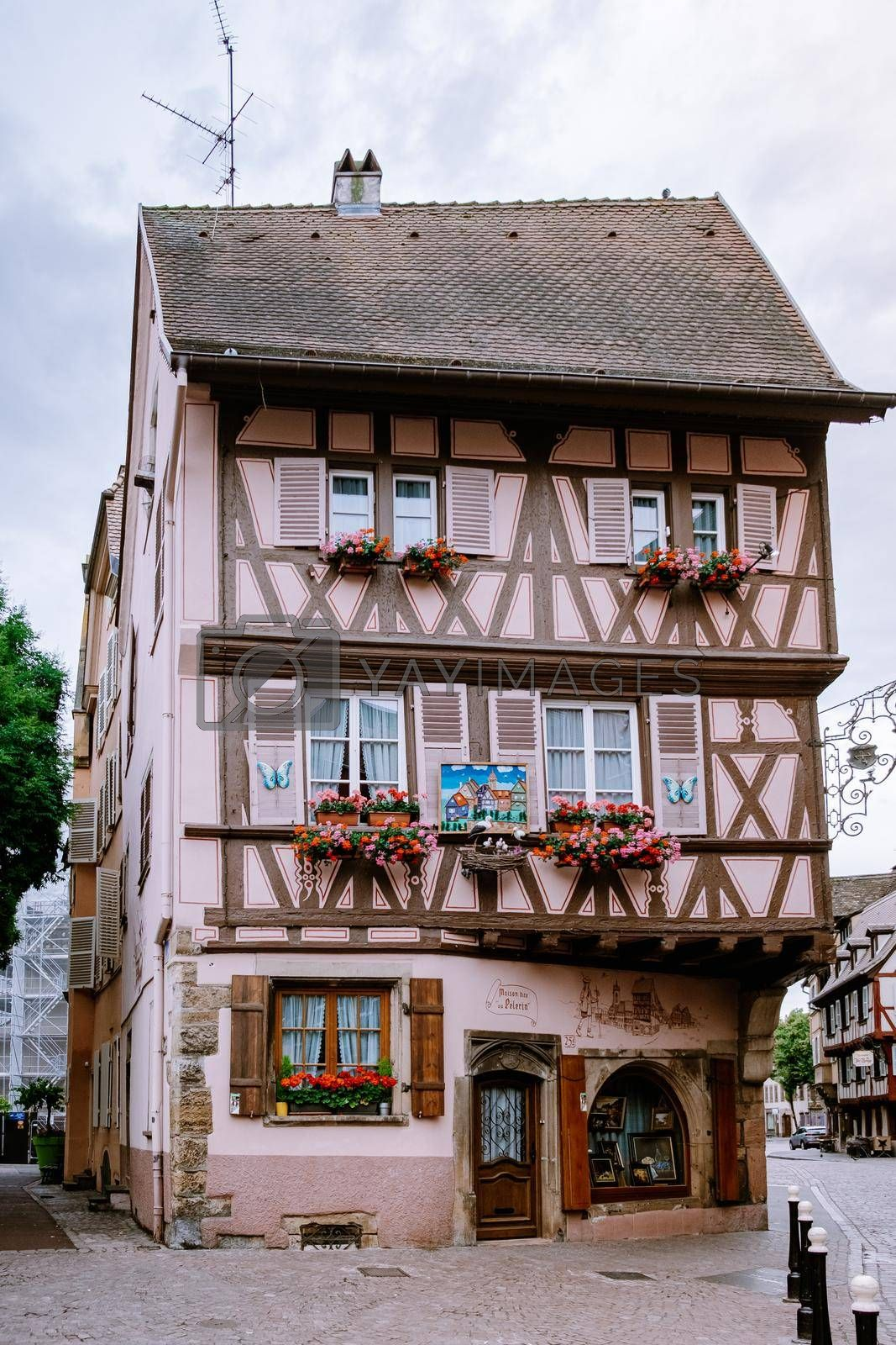 Colmar, Alsace, France June 2020. Petite Venice, water canal and traditional half timbered houses. Colmar is a charming town in Alsace, France. Beautiful view of colorful romantic city Colmar