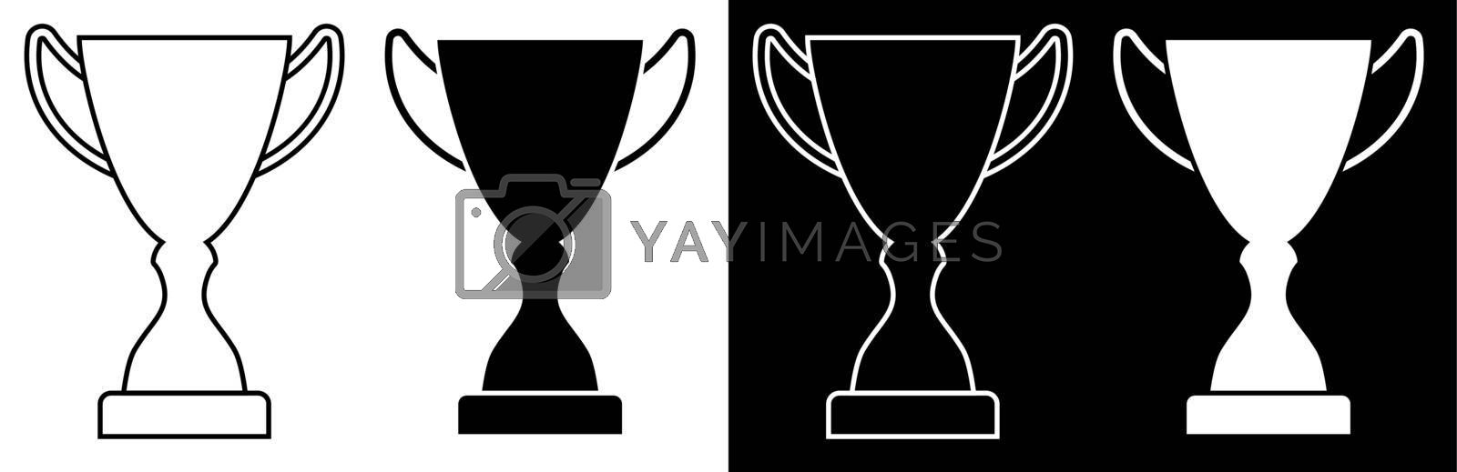 Icon. Prize sports cup for participation in sports competitions. Award to winner of tournament. Vector