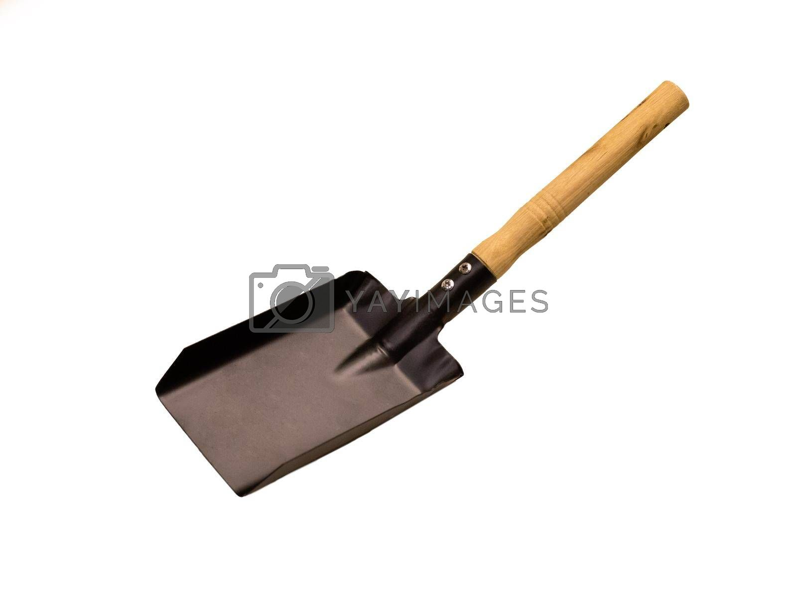 New shovel on white background