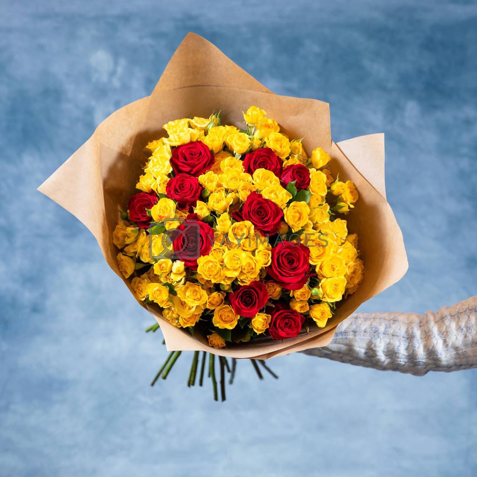 Rosa Violet Carson, Rosa Sun Flare bouquet
