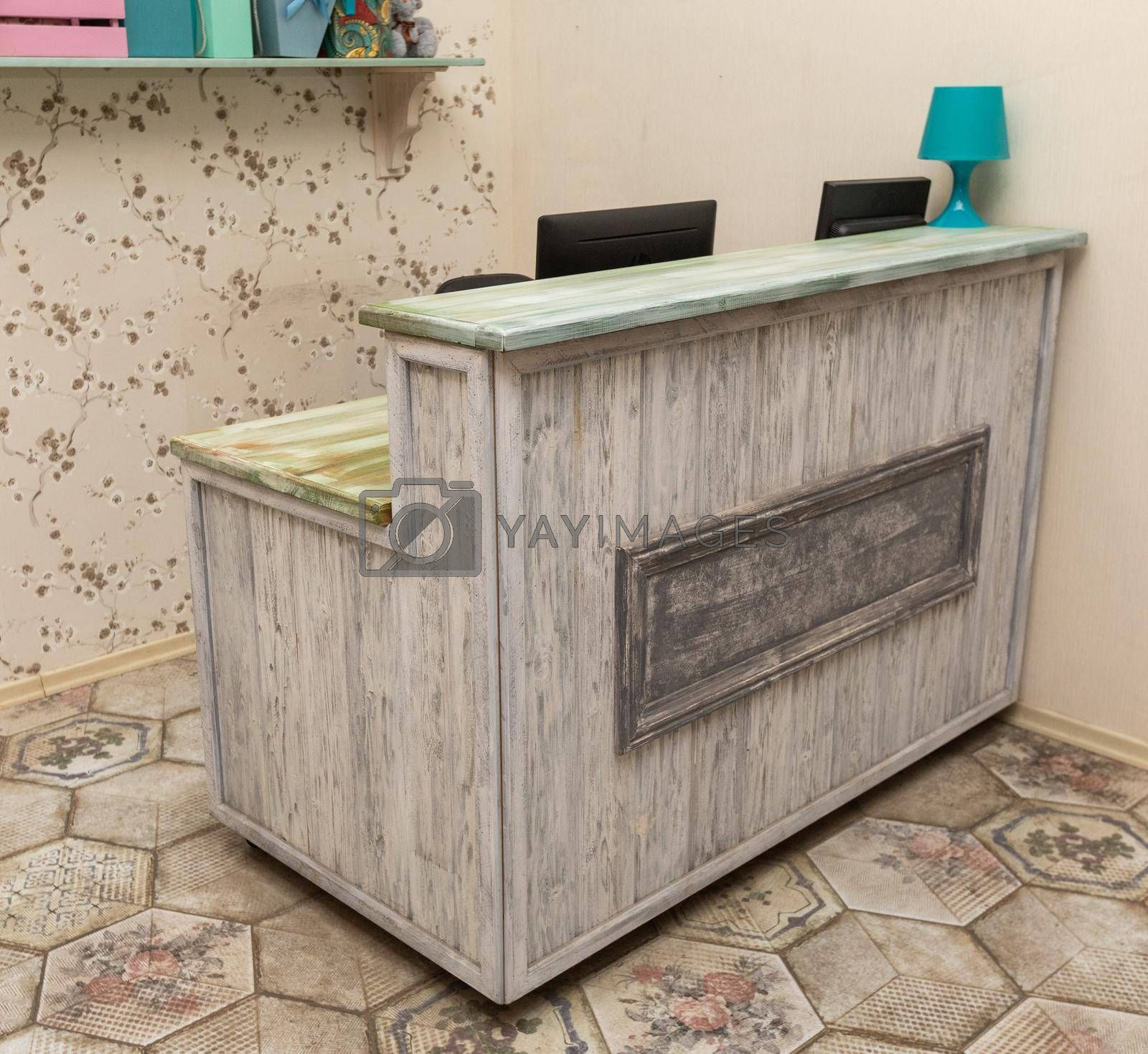 PC desk, table, stool, drawer at store