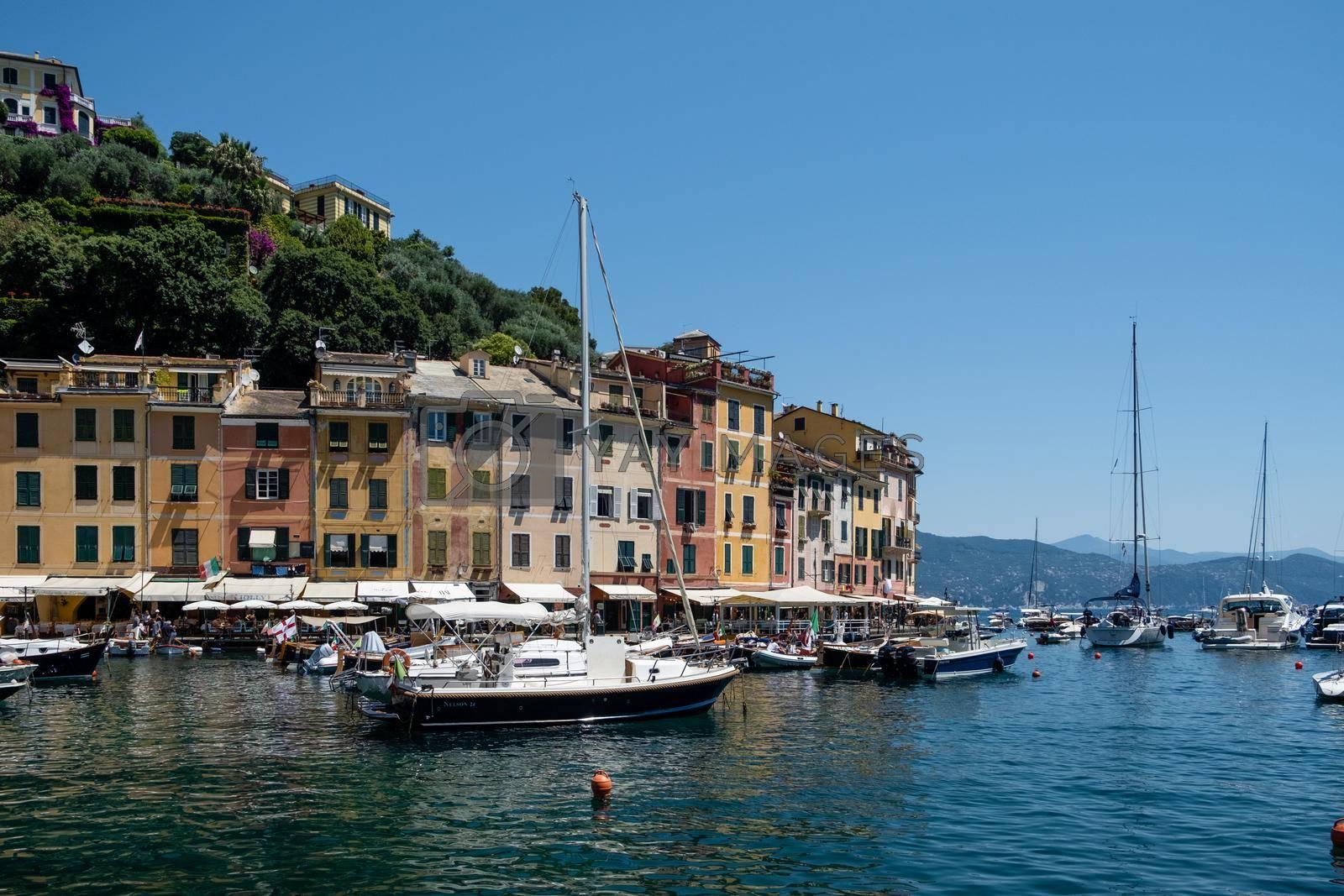 Portofino Italy June 2020, Portofino famous village bay, Italy Europe colorful village Ligurian coast